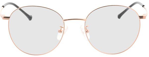 Picture of glasses model Charlottenburg-copper in angle 0