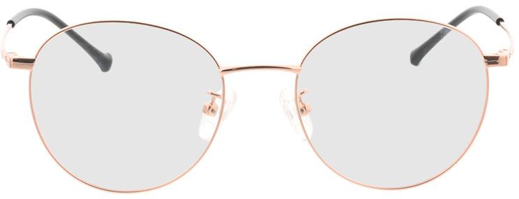 Picture of glasses model Charlottenburg-rosé dourado in angle 0