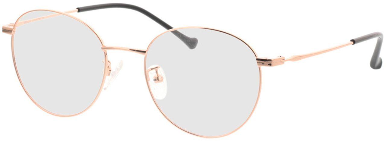Picture of glasses model Charlottenburg-copper in angle 330