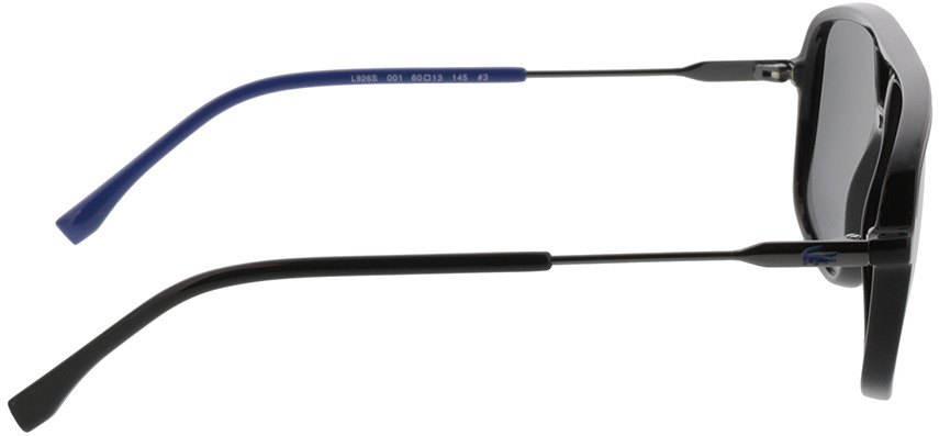Picture of glasses model Lacoste L926S 001 60-13 in angle 90