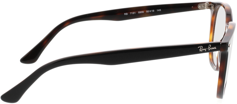Picture of glasses model Ray-Ban RX7151 5909 50-19 in angle 90