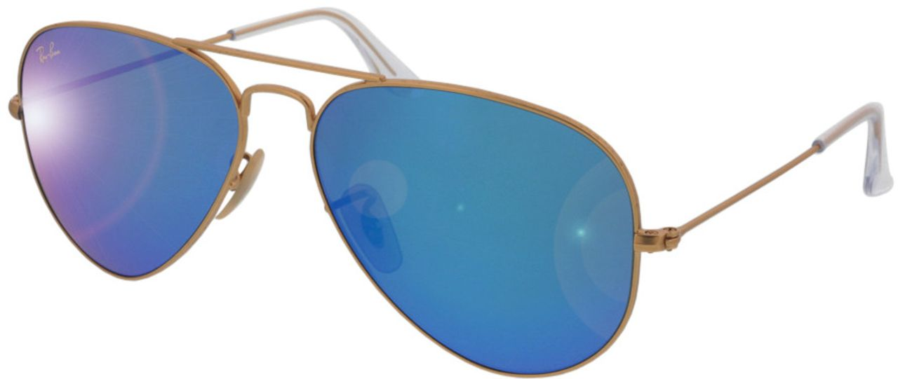 Picture of glasses model Ray-Ban Aviator RB3025 112/17 58-14 in angle 330