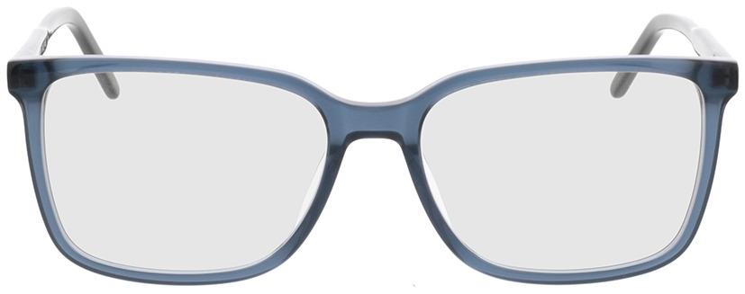 Picture of glasses model Fullerton-azul-transparente in angle 0