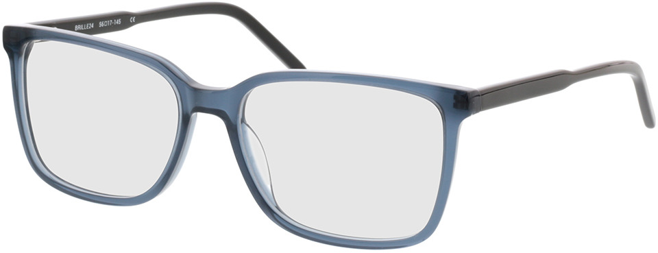 Picture of glasses model Fullerton-azul-transparente in angle 330