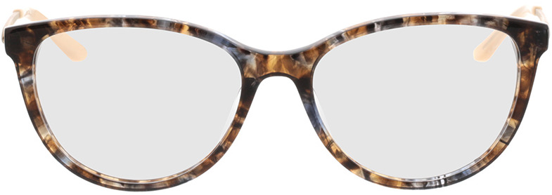 Picture of glasses model Flora-braun-grau-meliert/gold in angle 0