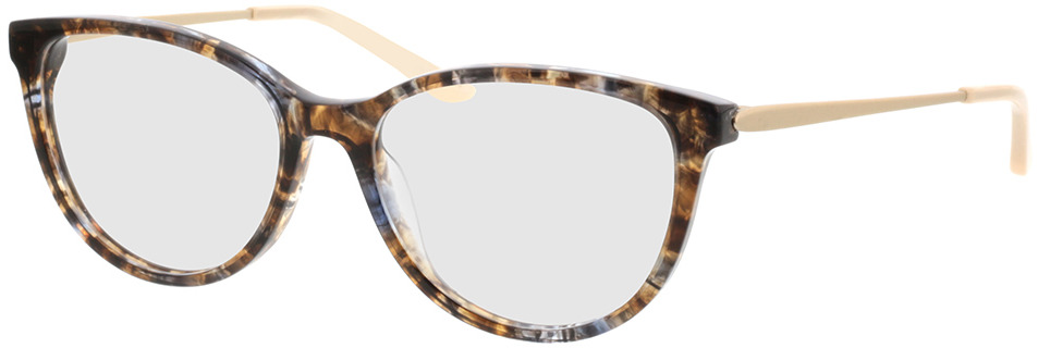 Picture of glasses model Flora-braun-grau-meliert/gold in angle 330