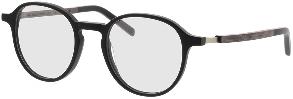Picture of glasses model TAKE A SHOT Thisa Midnight Black RX: Schwarzes Eichenholz 48-21 in angle 330