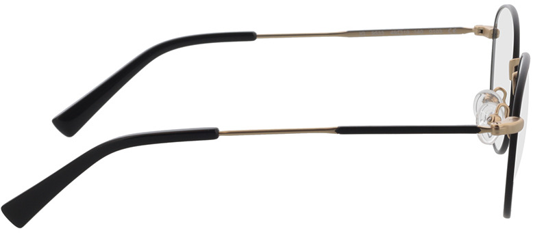 Picture of glasses model Cameron-schwarz/matt gold in angle 90