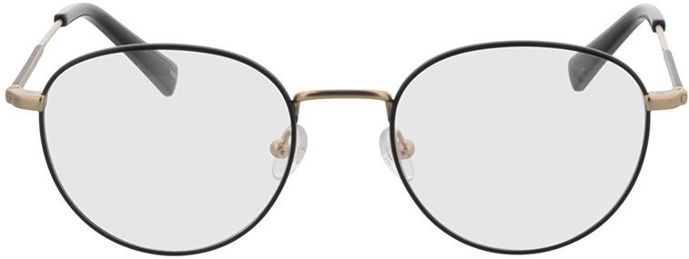 Picture of glasses model Cameron-schwarz/matt gold in angle 0