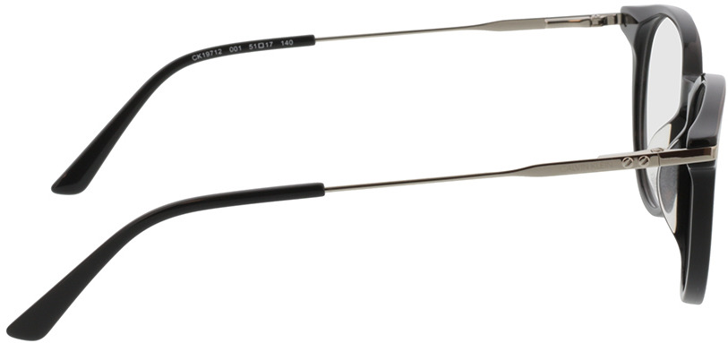Picture of glasses model Calvin Klein CK19712 001 51-17 in angle 90