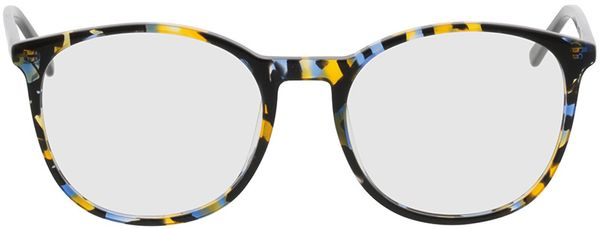 Picture of glasses model Montrose-blue-yellow in angle 0