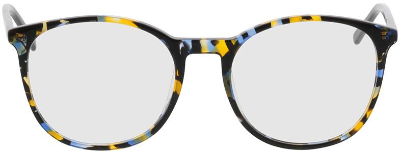 Picture of glasses model Montrose-azul/amarelo/preto in angle 0