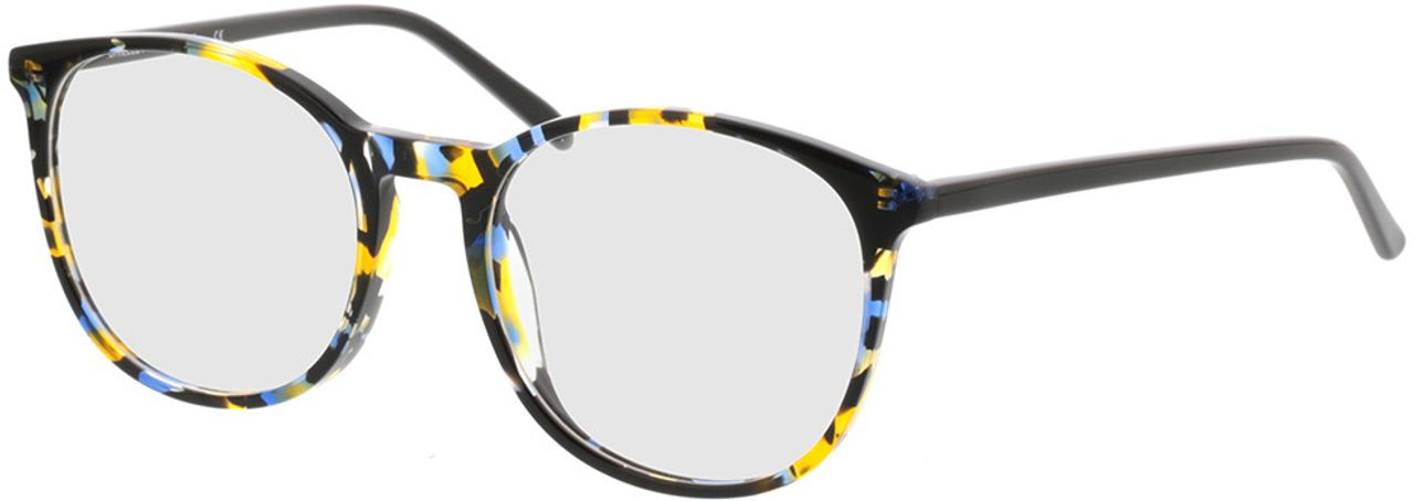 Picture of glasses model Montrose-blue-yellow in angle 330