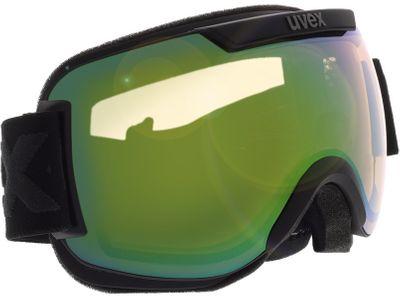 Brille Uvex Skibrille Downhill 2000 V Black Matt/Vario Green Mirror