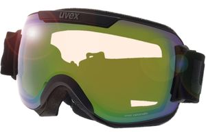 Uvex Skibrille Downhill 2000 V Black Matt/Vario Green Mirror