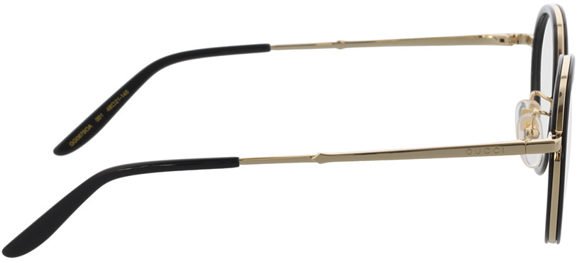 Picture of glasses model Gucci GG0679OA-001 48-21 in angle 90