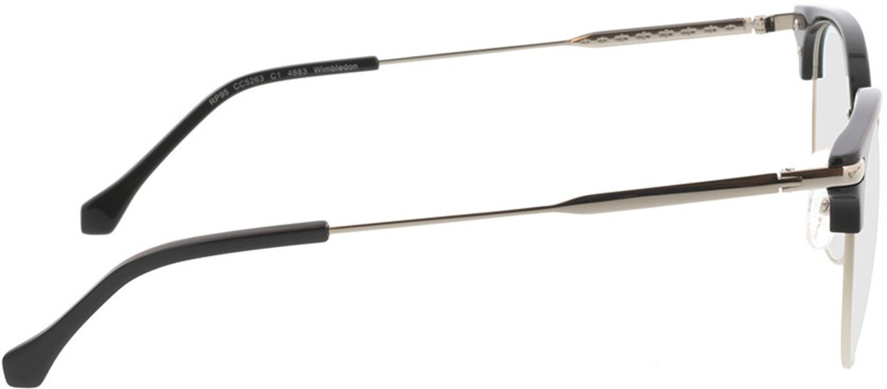 Picture of glasses model Wimbledon-schwarz/silber in angle 90