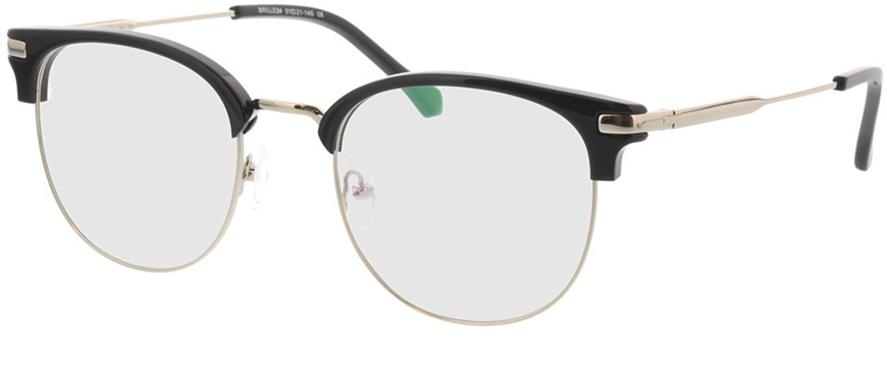 Picture of glasses model Wimbledon-schwarz/silber in angle 330