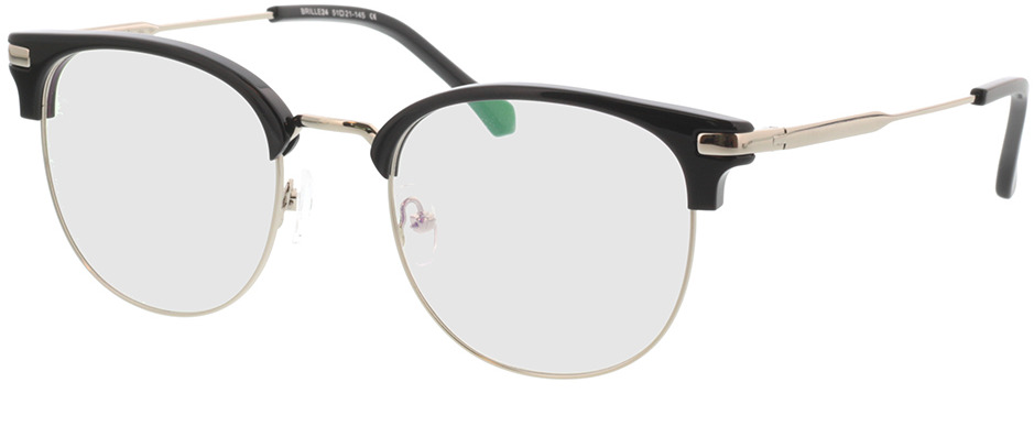 Picture of glasses model Wimbledon zwart/zilver in angle 330