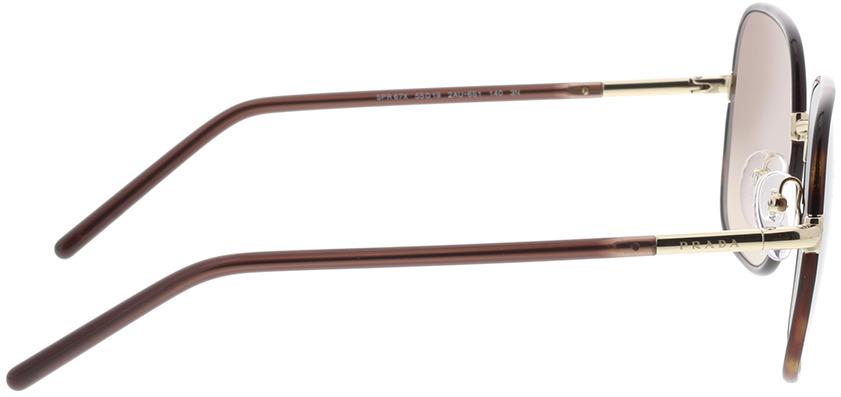 Picture of glasses model Prada PR 67XS 2AU6S1 55-19 in angle 90
