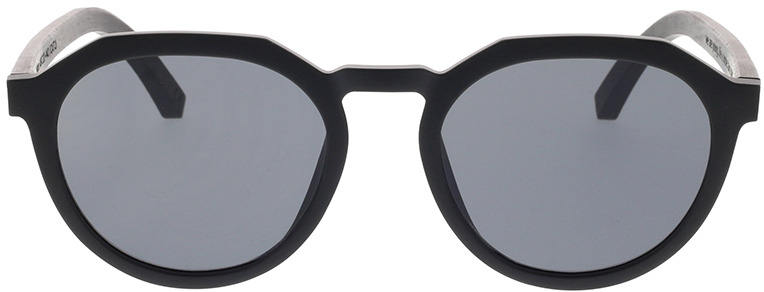 Picture of glasses model TAKE A SHOT Wilson: noir/noires Eichenholz 49-20 in angle 0
