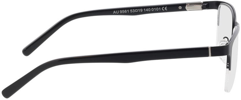 Picture of glasses model Alamo mat zwart in angle 90