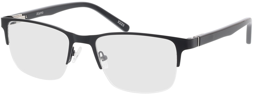 Picture of glasses model Alamo mat zwart in angle 330
