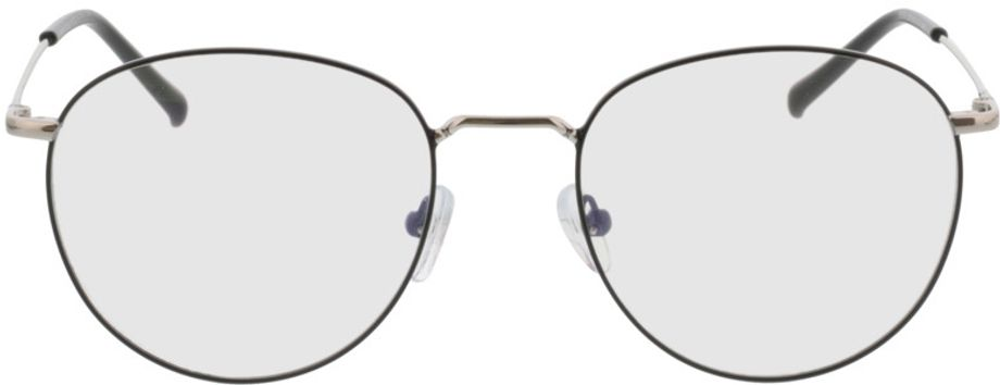 Picture of glasses model Louro-schwarz/silber in angle 0