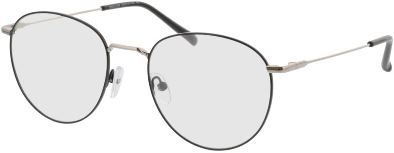 Picture of glasses model Louro-schwarz/silber in angle 330
