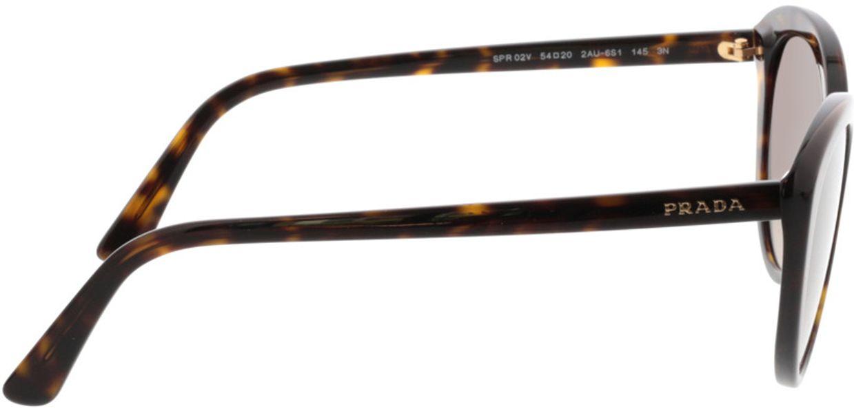 Picture of glasses model Prada PR 02VS 2AU6S1 54-20 in angle 90