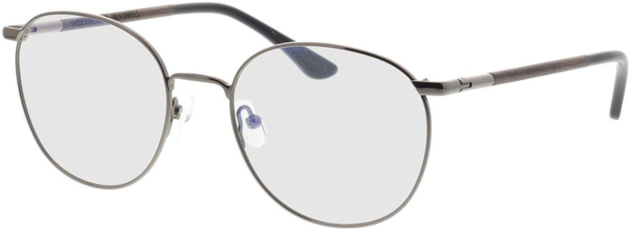 Picture of glasses model Wood Fellas Optical Braunfels walnut/gun shiny 53-19 in angle 330