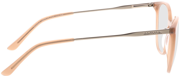 Picture of glasses model Comma, 70064 66 nude/Goud 49-17 in angle 90
