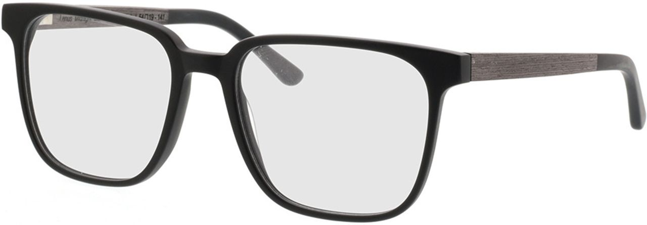 Picture of glasses model TAKE A SHOT Lenus Midnight Black RX: Schwarzes Eichenholz 54-19 in angle 330