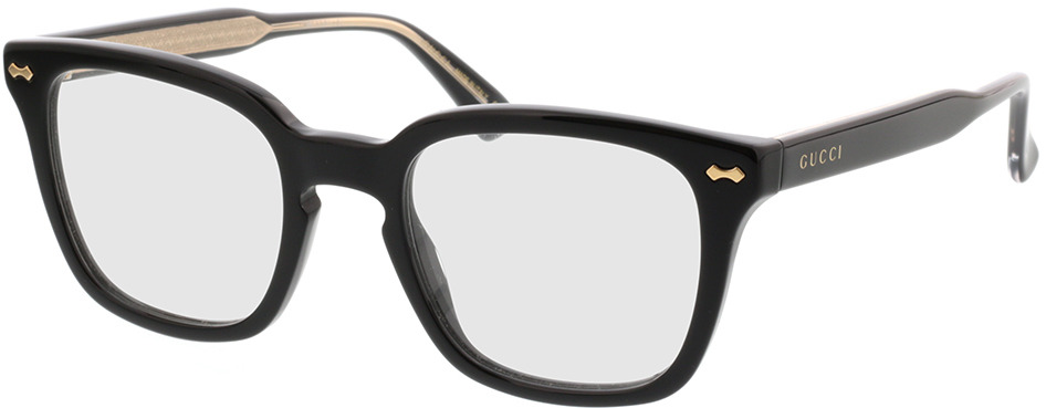 Picture of glasses model Gucci GG0184O-001 50-21 in angle 330