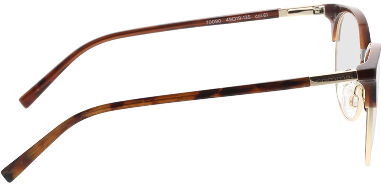 Picture of glasses model Comma, 70090 61 brown 49-19 in angle 90