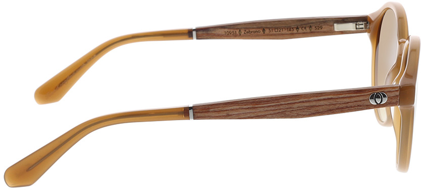 Picture of glasses model Wood Fellas Sunglasses Werdenfels zebrano/caramel 51-21 in angle 90