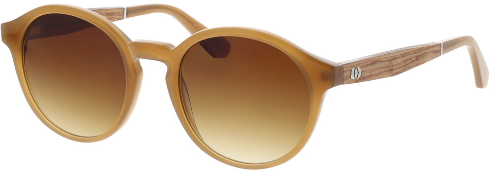 Picture of glasses model Wood Fellas Sunglasses Werdenfels zebrano/caramel 51-21 in angle 330
