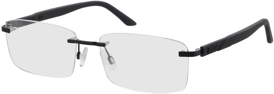 Picture of glasses model Puma PU0330O-001 58-17 in angle 330