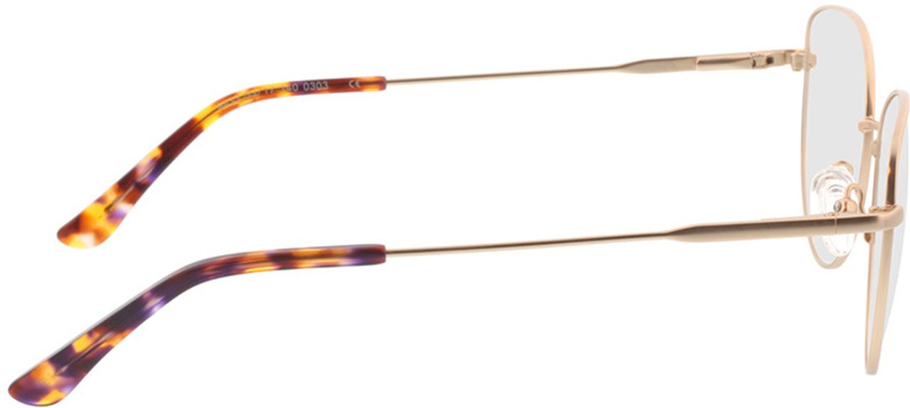 Picture of glasses model Resia-matt gold in angle 90