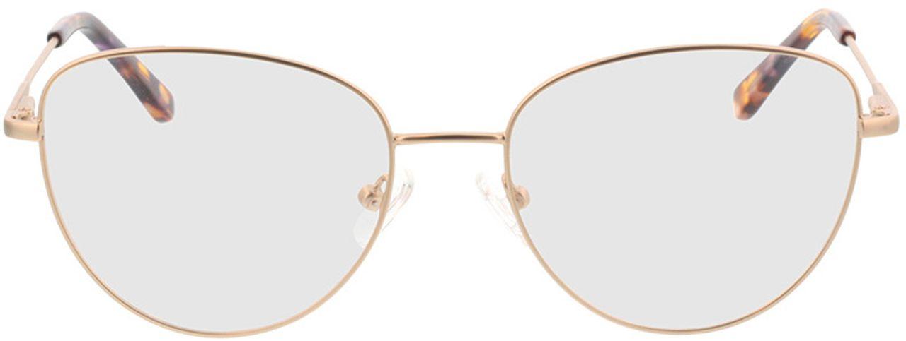 Picture of glasses model Resia-matt gold in angle 0