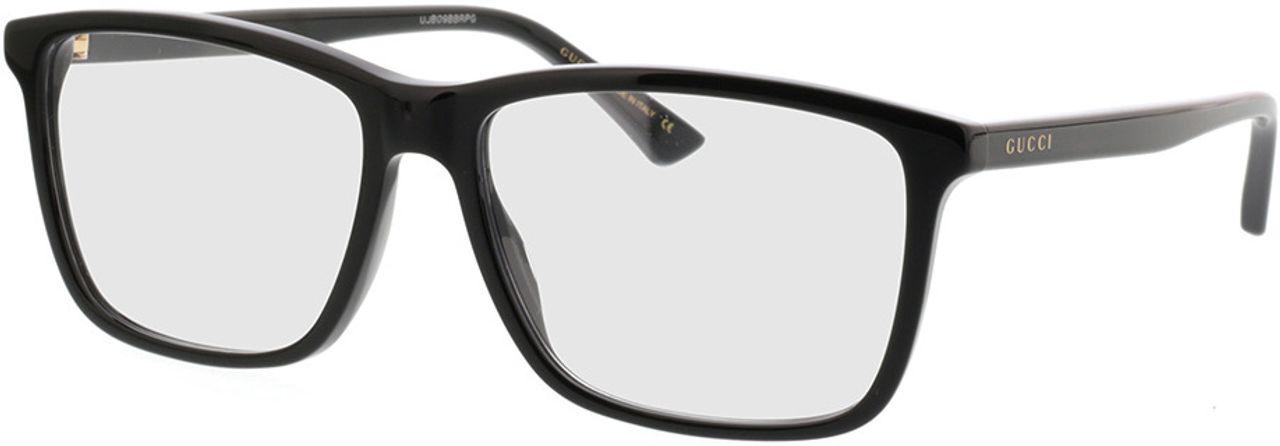Picture of glasses model Gucci GG0407O-005 57-16 in angle 330