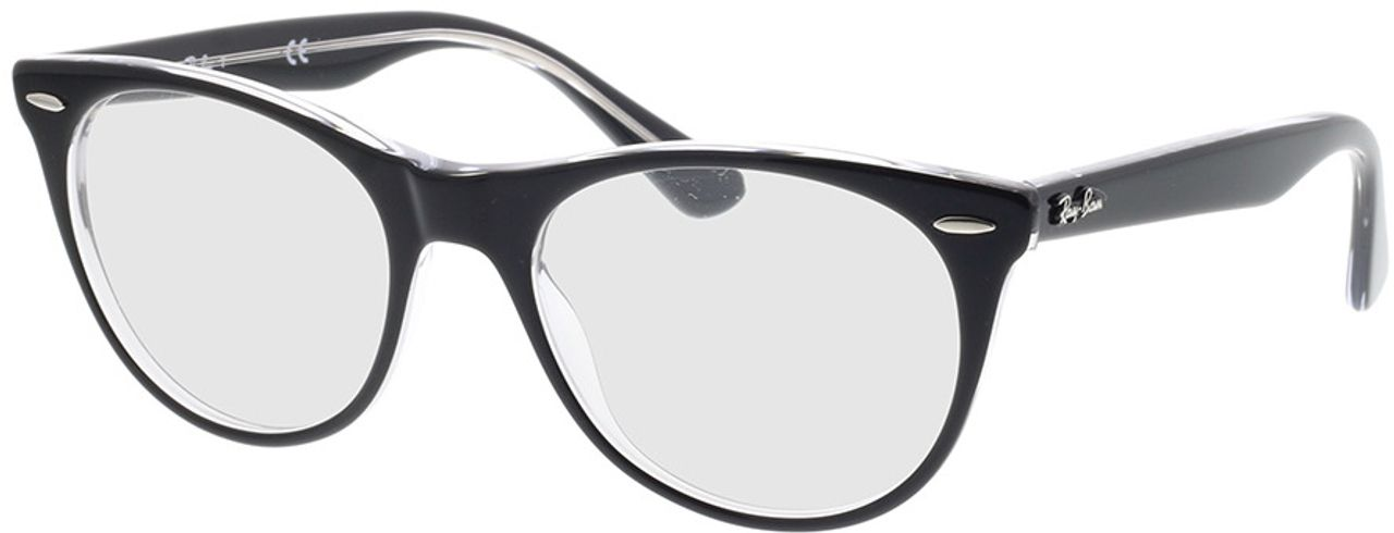 Picture of glasses model Ray-Ban RX2185V 2034 52-18 in angle 330