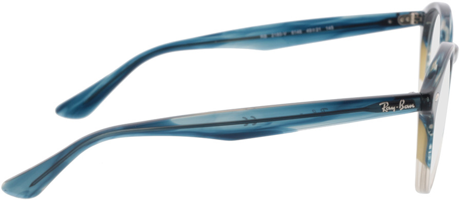 Picture of glasses model Ray-Ban RX2180V 8146 49-21 in angle 90