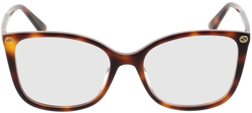 Picture of glasses model Gucci GG0026O-002 53-17 in angle 0