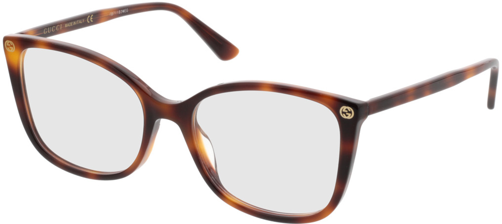 Picture of glasses model Gucci GG0026O-002 53-17 in angle 330