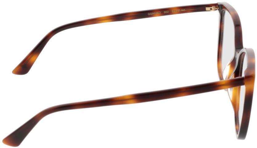Picture of glasses model Gucci GG0026O-002 53-17 in angle 90