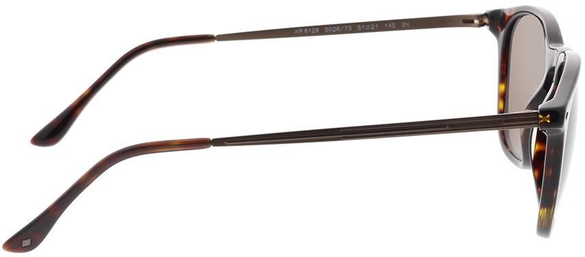 Picture of glasses model Giorgio Armani AR8128 502673 51-21 in angle 90