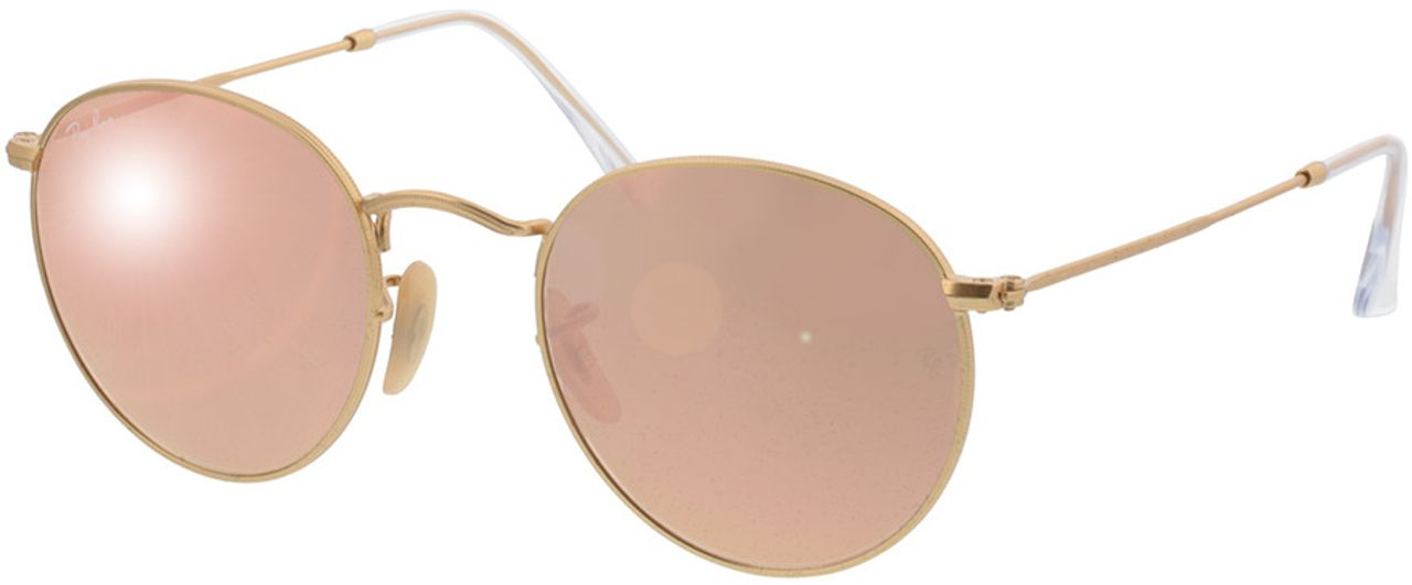 Picture of glasses model Ray-Ban Round Metal RB3447 112/Z2 50-21 in angle 330
