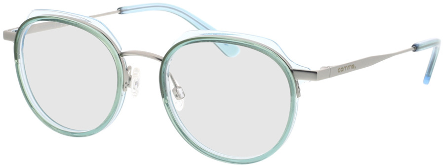 Picture of glasses model Comma, 70078 52 turquoise 48-19 in angle 330