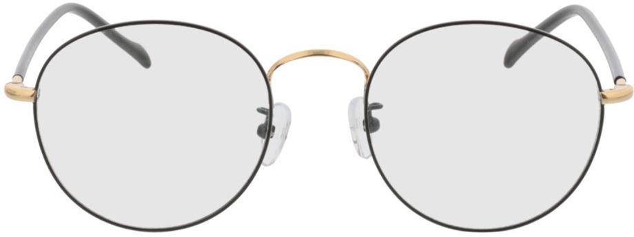 Picture of glasses model Concorde-black-gold in angle 0